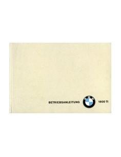 1965 BMW 1800 TI INSTRUCTIEBOEKJE DUITS