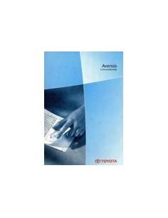 2002 TOYOTA AVENSIS INSTRUCTIEBOEKJE NEDERLANDS