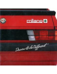 1987 ALFA ROMEO MILANO BROCHURE ENGELS USA