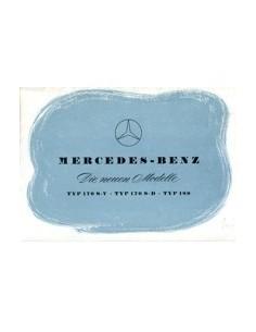 1953 MERCEDES BENZ PROGRAMMA BROCHURE DUITS