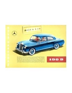 1958 MERCEDES BENZ 190D BROCHURE DUITS