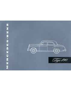 1956 MERCEDES BENZ 190 BROCHURE DUITS
