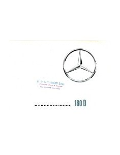 1960 MERCEDES BENZ 180D BROCHURE ENGELS