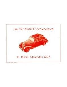 1953 MERCEDES BENZ 170 S LEAFLET DUITS