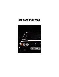 1991 BMW 7 SERIE BROCHURE DUITS
