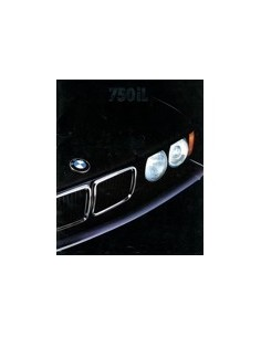 1989 BMW 7 SERIE BROCHURE ENGELS USA