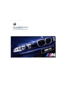 1998 BMW M5 BROCHURE DUITS