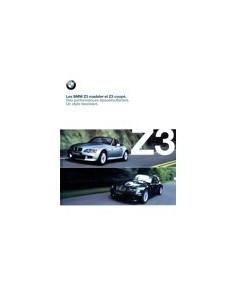 2000 BMW Z3 ROADSTER & COUPE BROCHURE FRANS