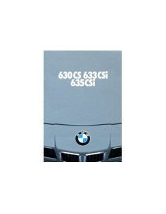 1978 BMW 6 SERIE BROCHURE NEDERLANDS