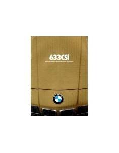1979 BMW 6 SERIE BROCHURE ENGELS USA