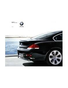 2003 BMW 6 SERIE COUPE BROCHURE NEDERLANDS