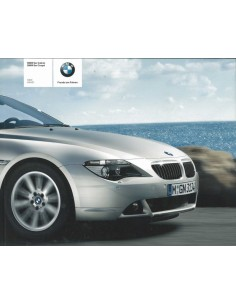 2004 BMW 6 SERIE COUPE CABRIO BROCHURE NEDERLANDS