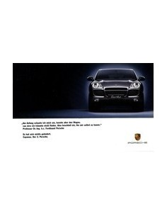 2003 PORSCHE CAYENNE MEDIA PACK BROCHURE & VIDEO DUITS