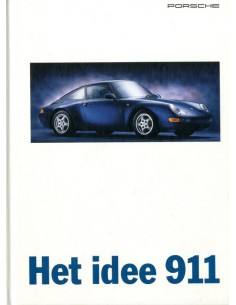 1995 PORSCHE 911 CARRERA TARGA & TURBO HARDCOVER BROCHURE NL