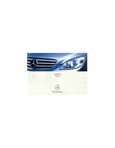 2007 Mercedes Benz B Class Owners Manual Handbook Dutch Automotive