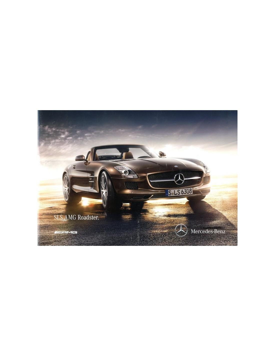 2011 MERCEDES BENZ SLS AMG ROADSTER BROCHURE DUITS