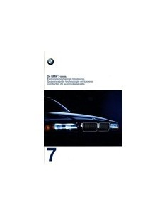 1997 BMW 7 SERIE BROCHURE NEDERLANDS