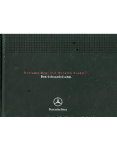 2007 MERCEDES BENZ SLR MCLAREN ROADSTER INSTRUCTIEBOEKJE DUITS