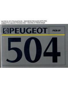 1991 PEUGEOT 504 PICK-UP INSTRUCTIEBOEKJE