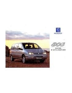 1998 PEUGEOT 806 INSTRUCTIEBOEKJE FRANS