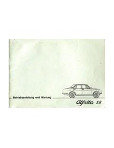 1976 ALFA ROMEO ALFETTA 1.8 INSTRUCTIEBOEKJE DUITS