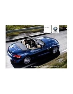 2009 BMW Z4 VERKORT INSTRUCTIEBOEKJE ENGELS