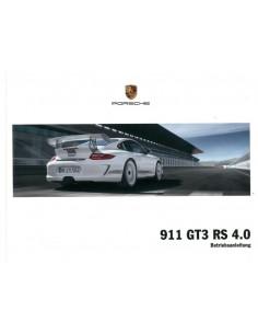 2011 PORSCHE 911 GT3 RS 4.0 INSTRUCTIEBOEKJE DUITS