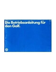 1979 VOLKSWAGEN GOLF INSTRUCTIEBOEKJE DUITS