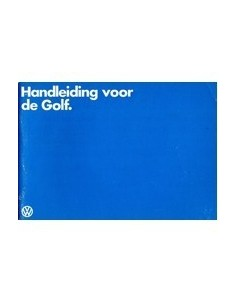 1980 VOLKSWAGEN GOLF INSTRUCTIEBOEKJE NEDERLANDS