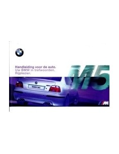 1998 BMW 5 SERIE M5 INSTRUCTIEBOEKJE NEDERLANDS