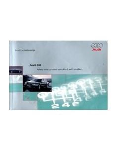 1999 AUDI S8 INSTRUCTIEBOEKJE NEDERLANDS