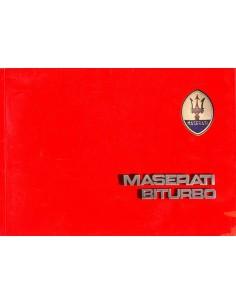 1983 MASERATI BITURBO INSTRUCTIEBOEKJE ITALIAANS