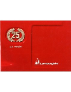 1988 LAMBORGHINI COUNTACH 25TH ANNIVERSARY USA VERSIE INSTRUCTIEBOEK