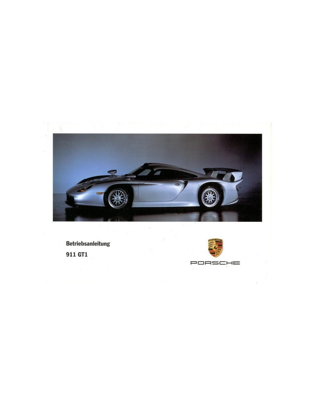 porsche 911 gt1 owner 39 s manual. Black Bedroom Furniture Sets. Home Design Ideas