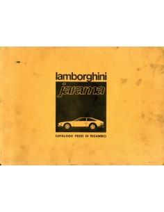 1970 LAMBORGHINI JARAMA ONDERDELENBOEK ITALIAANS