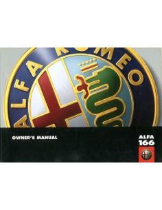 1999 ALFA ROMEO 166 INSTRUCTIEBOEKJE ENGELS