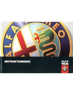 1998 ALFA ROMEO 166 INSTRUCTIEBOEKJE DEENS