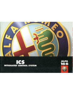 1998 ALFA ROMEO 166 ICS  INSTRUCTIEBOEKJE ENGELS