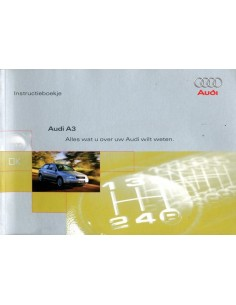 1998 AUDI A3 INSTRUCTIEBOEKJE NEDERLANDS