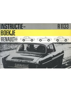 1966 RENAULT CARAVELLE INSTRUCTIEBOEKJE NEDERLANDS