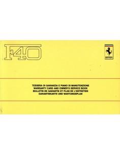 1988 FERRARI F40 GARANTIEBOEK 520/88