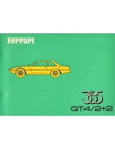 1973 FERRARI 365GT4 2+2 ONDERDELENHANDBOEK 78/73