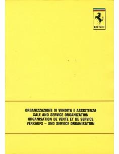 1989 FERRARI VERKAUFS - UND SERVICE ORGANISATION BETRIEBSANLEITUNG 560/89