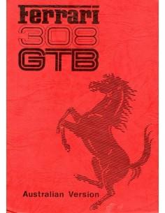 1976 FERRARI 308 GTB INSTRUCTIEBOEKJE AUSTRALIE 134/76