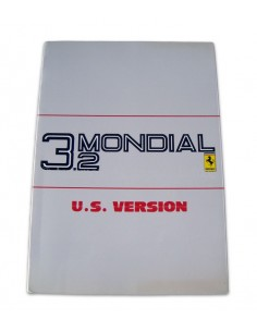 1988 FERRARI 3.2 MONDIAL INSTRUCTIEBOEKJE USA VERSIE 481/87