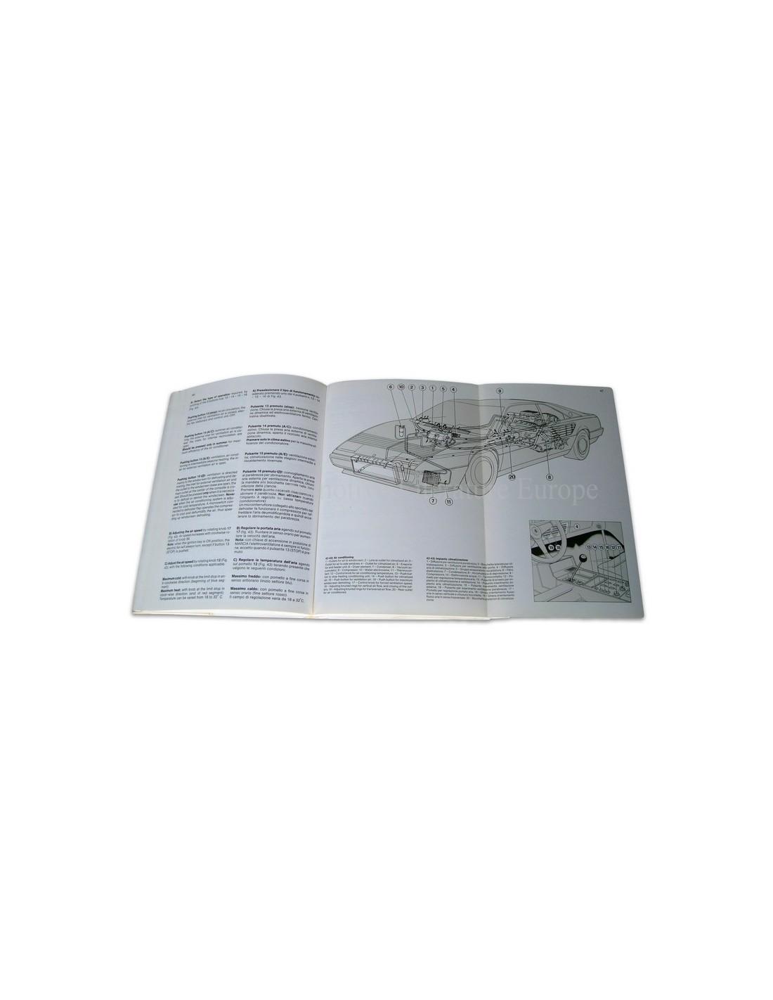 1988 ferrari 3 2 mondial owner 39 s manual u s version 481 87. Black Bedroom Furniture Sets. Home Design Ideas