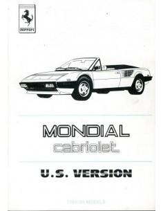 1985 FERRARI MONDIAL CABRIOLET USA BIJLAGE 300/85