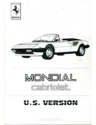 1985 ferrari mondial owners manual handbook supplement u s version 300 85. Black Bedroom Furniture Sets. Home Design Ideas