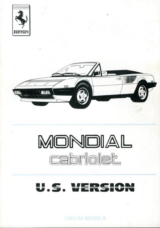ferrari mondial repair manual 1987 ferrari 3 2 mondial. Black Bedroom Furniture Sets. Home Design Ideas