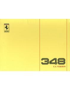 1992 FERRARI 348 TB INSTRUCTIEBOEKJE USA 658/91